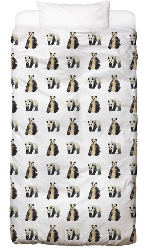 Kinderzimmer & Kunst für Kinder, Pandas, Panda -Kinderbettwäsche