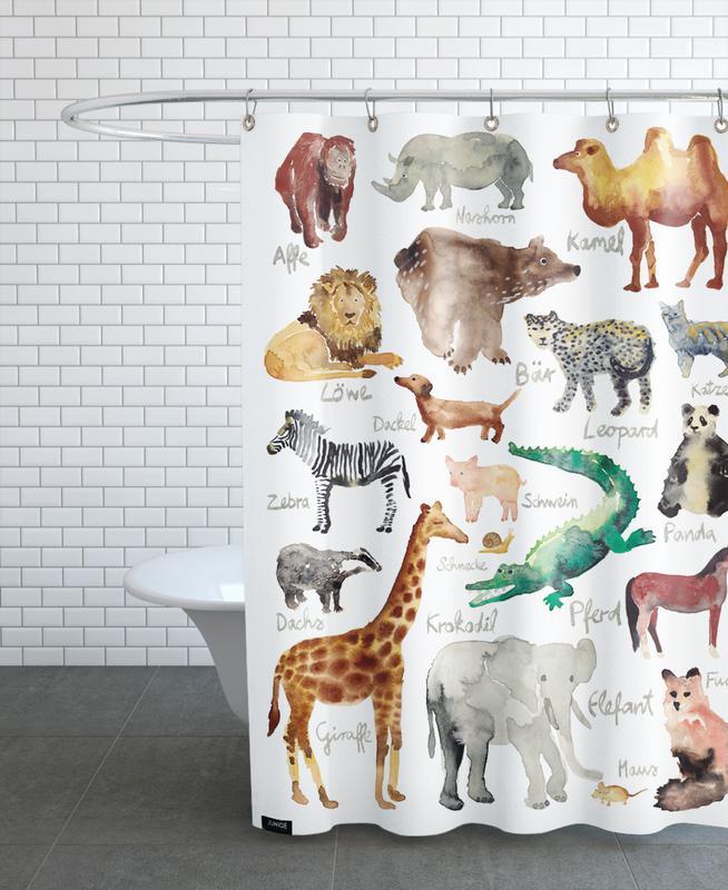 The Animal Kingdom rideau de douche