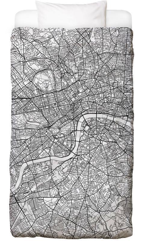 London, City Maps, London Minimal Bed Linen