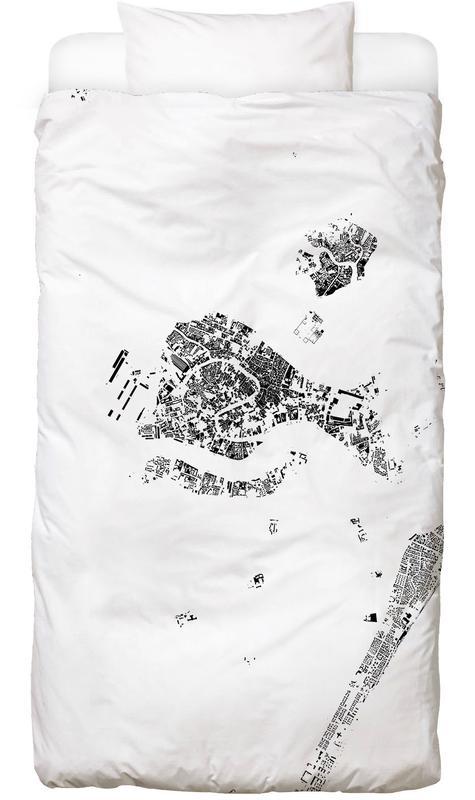 Venice Map Schwarzplan Bed Linen