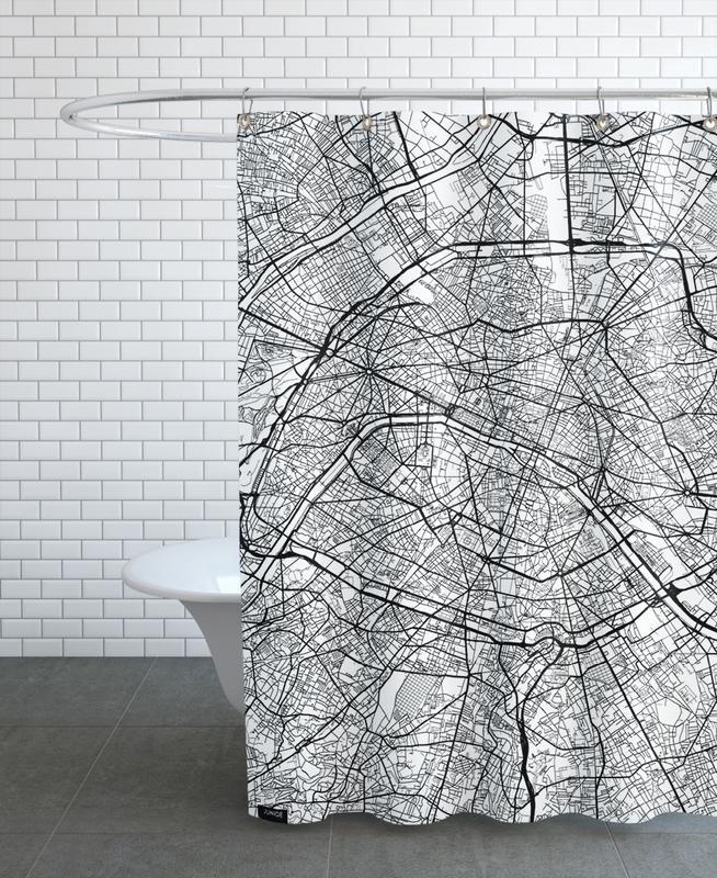 Paris Minimal Shower Curtain
