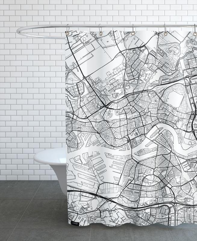 Rotterdam Minimal Shower Curtain