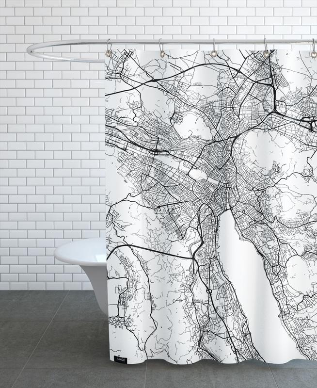 Zurich Minimal Shower Curtain
