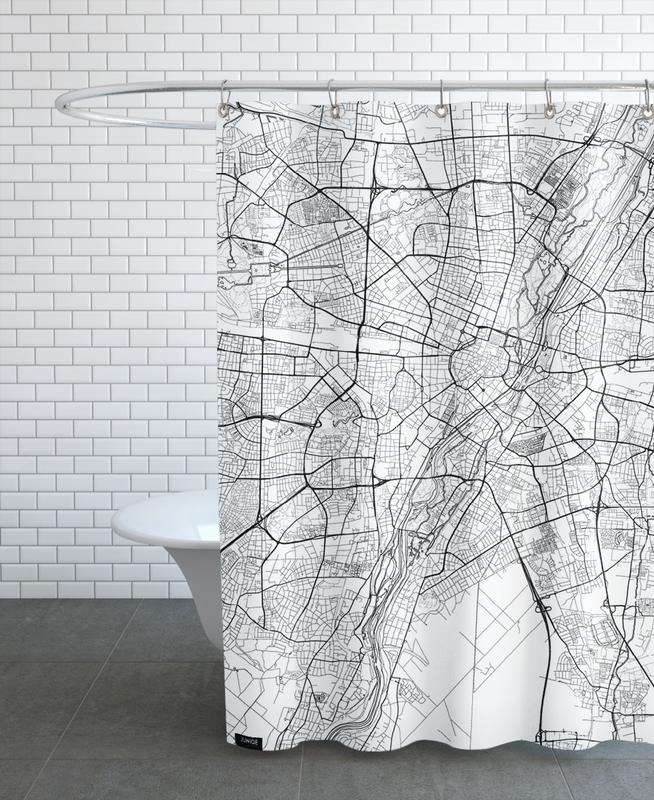 Munich Minimal rideau de douche