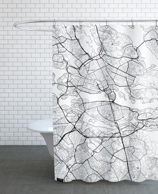 Stockholm Minimal Shower Curtain