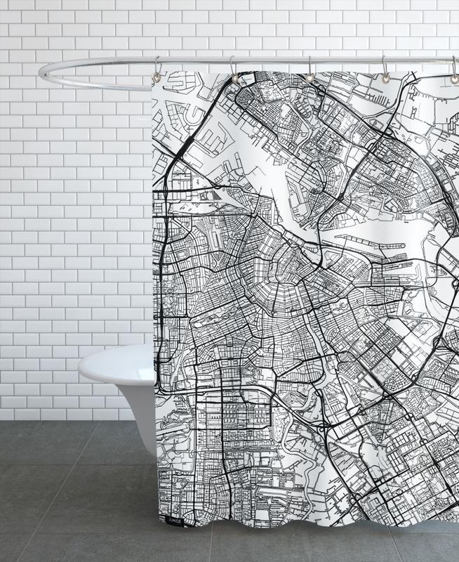 Amsterdam Minimal Shower Curtain