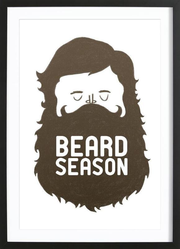 Beard Season -Bild mit Holzrahmen