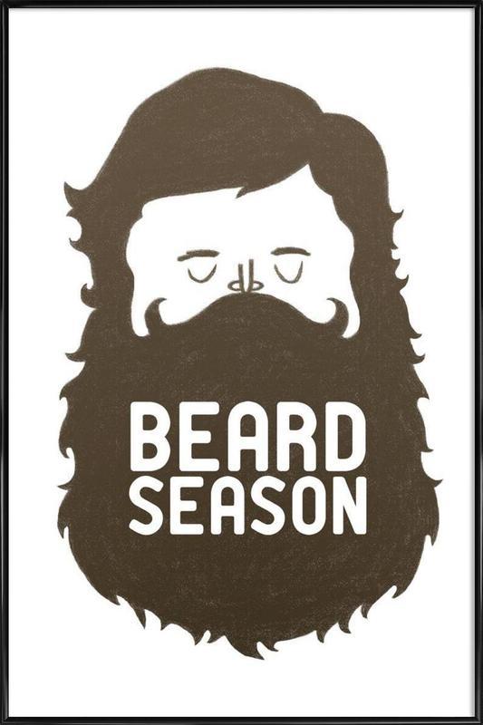 Beard Season -Bild mit Kunststoffrahmen