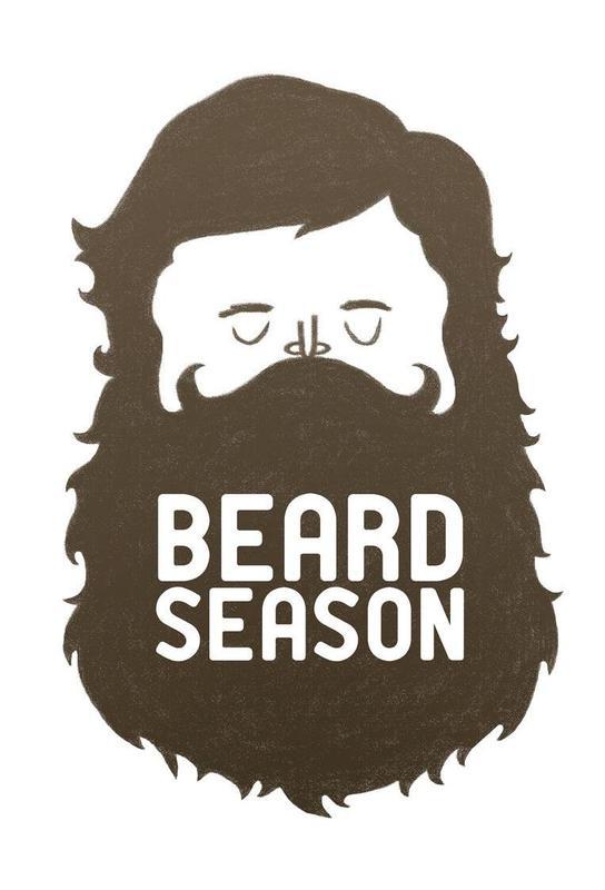 Beard Season Aluminium Print