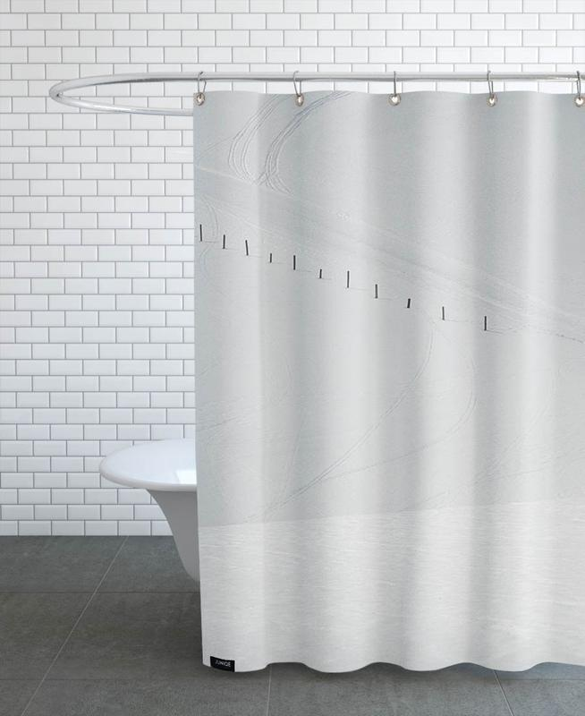 Lines in the Snow Shower Curtain