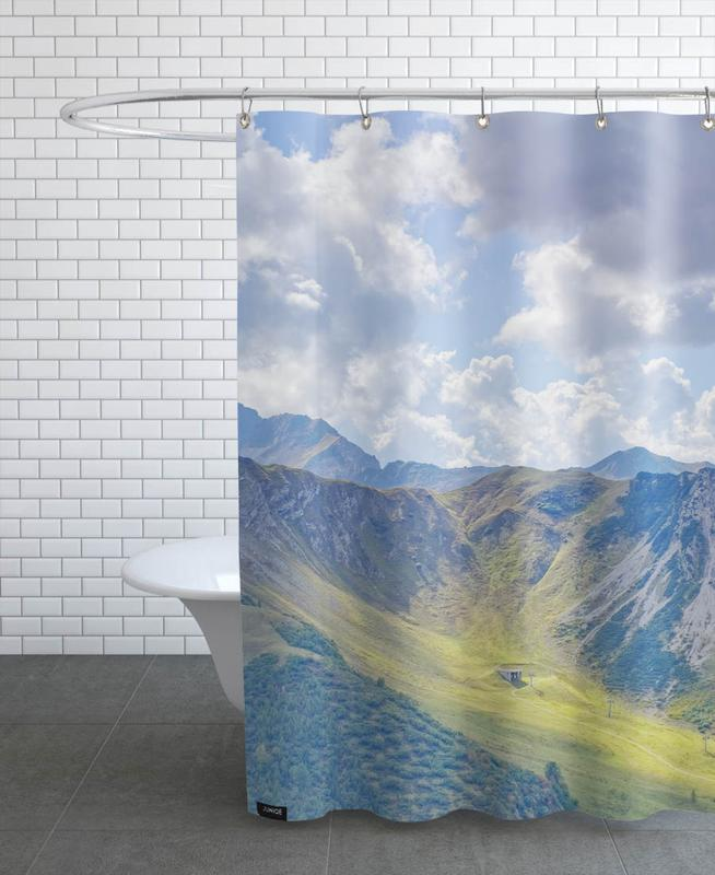Mountains, Summer Slope Shower Curtain