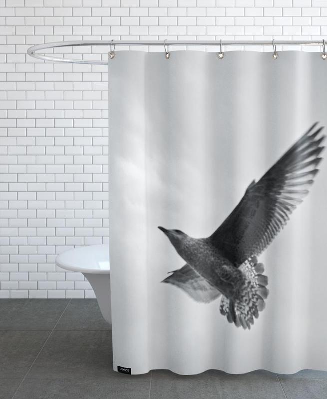 Noir & blanc, Mouettes, A seagull rideau de douche
