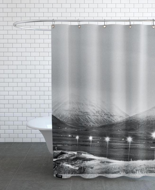 Black & White, Mountains, Varmahlíð Shower Curtain