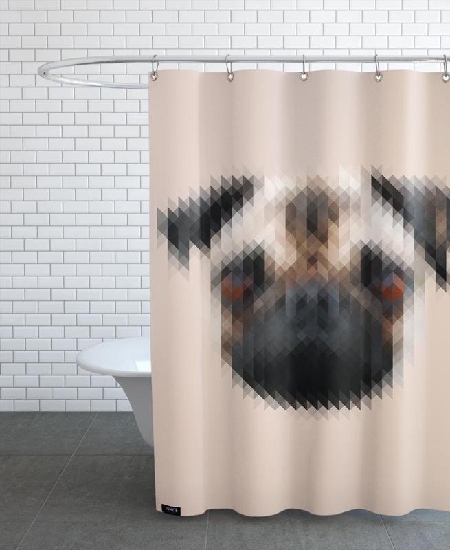 Chiens, Mops rideau de douche