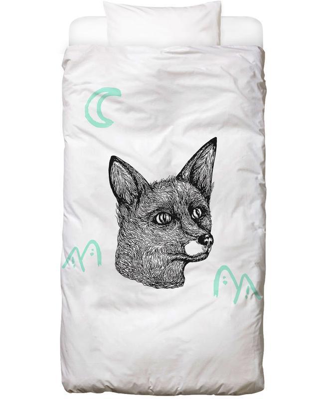 Füchse, Street Art, Celestial Fox Bettwäsche