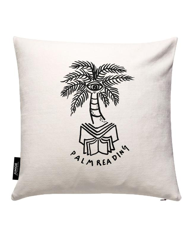 Palm Reading White Cushion Cover