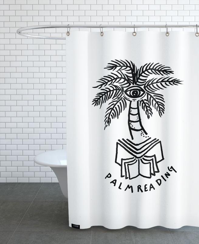 Palm Reading White rideau de douche