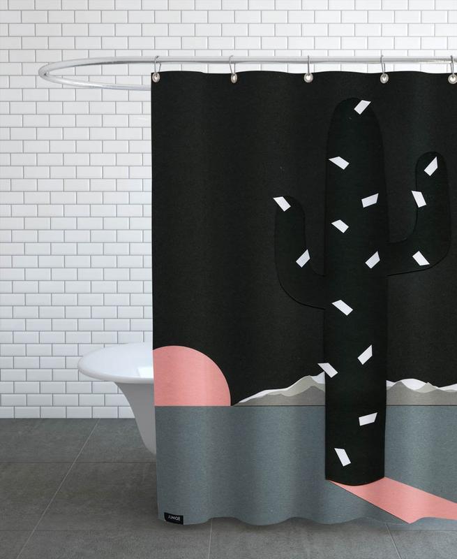 Black Sierra Nevada Shower Curtain