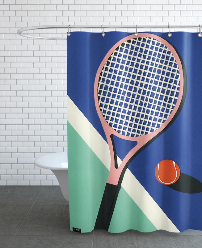 Malibu Tennis Club Shower Curtain