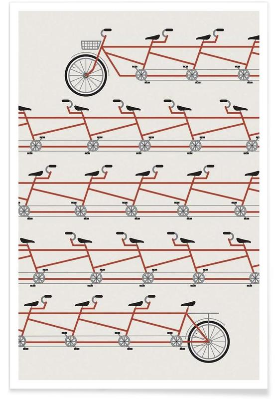 Bicycles, Stretched Out Tandem Poster