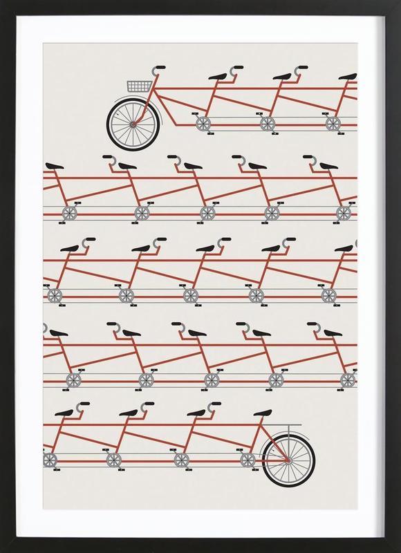 Stretched Out Tandem Framed Print