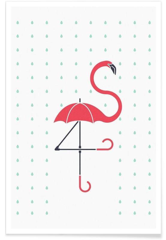 Flamants roses, The Pink Umbrella affiche
