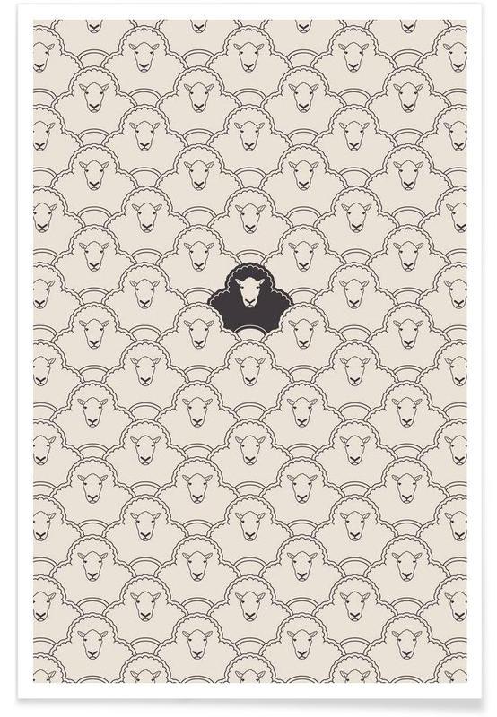 Moutons, Black sheep affiche
