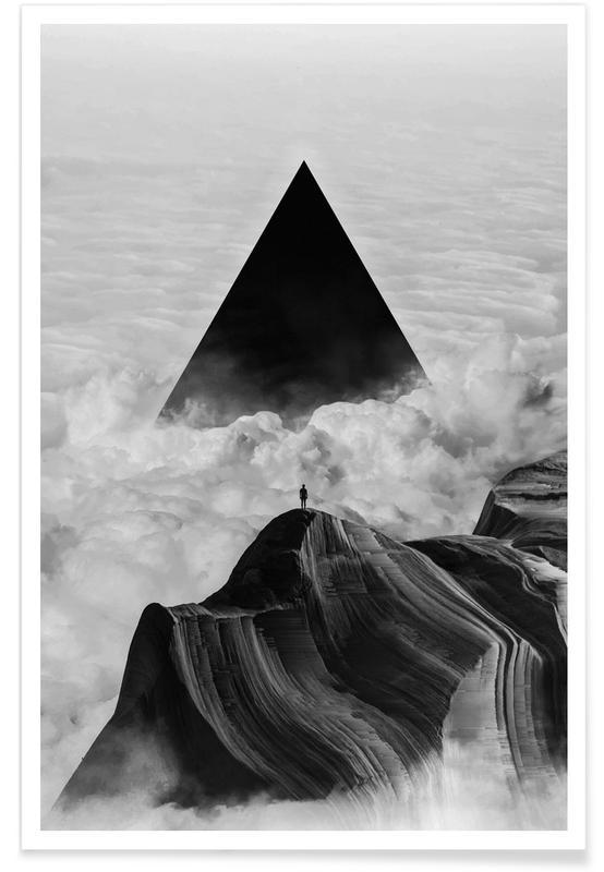 Abstracte landschappen, Zwart en wit, Dromerig, We Never Had It Anyway poster