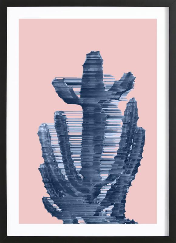 Supersonic Serene Cactus Framed Print