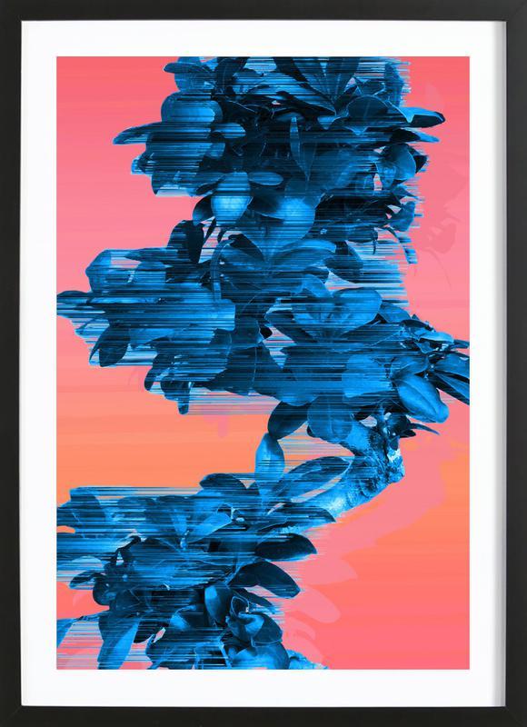 Velocious Blue Little Tree Framed Print