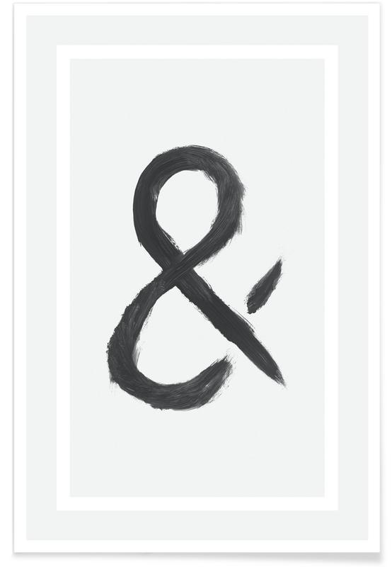 Schwarz & Weiß, Symbole, Ampersand -Poster