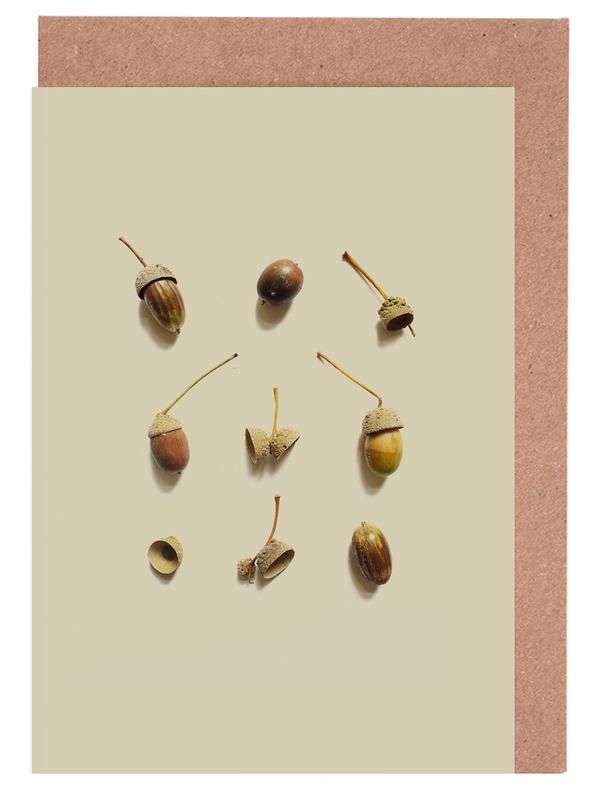 Blätter & Pflanzen, COMPOSIZIONE GHIANDE I -Grußkarten-Set