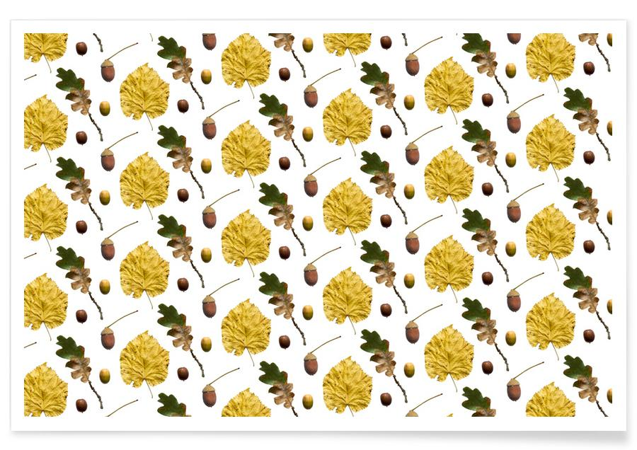 Leaves & Plants, Patterns, PATTERN AUTUNNALE I Poster