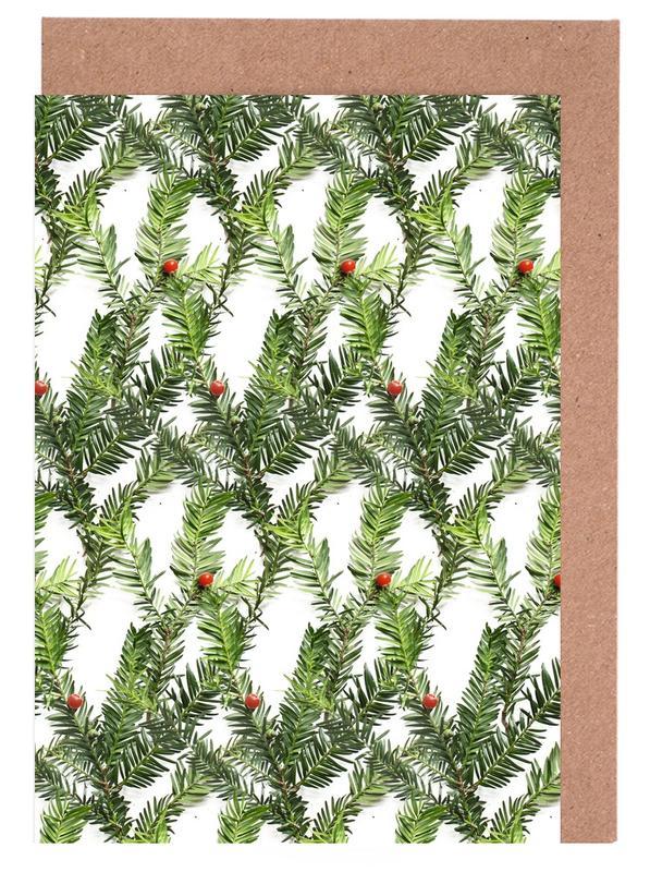 Muster, Weihnachten, Blätter & Pflanzen, PATTERN AUTUNNALE II -Grußkarten-Set