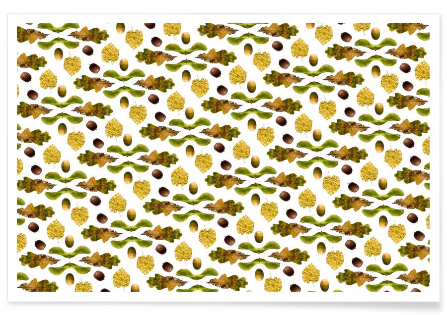 Leaves & Plants, Patterns, PATTERN AUTUNNALE III Poster