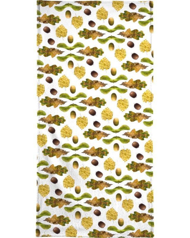 Leaves & Plants, Patterns, PATTERN AUTUNNALE III Bath Towel