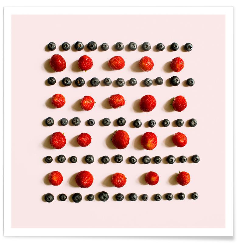 Berries, Strawberries, Frutti di bosco Poster