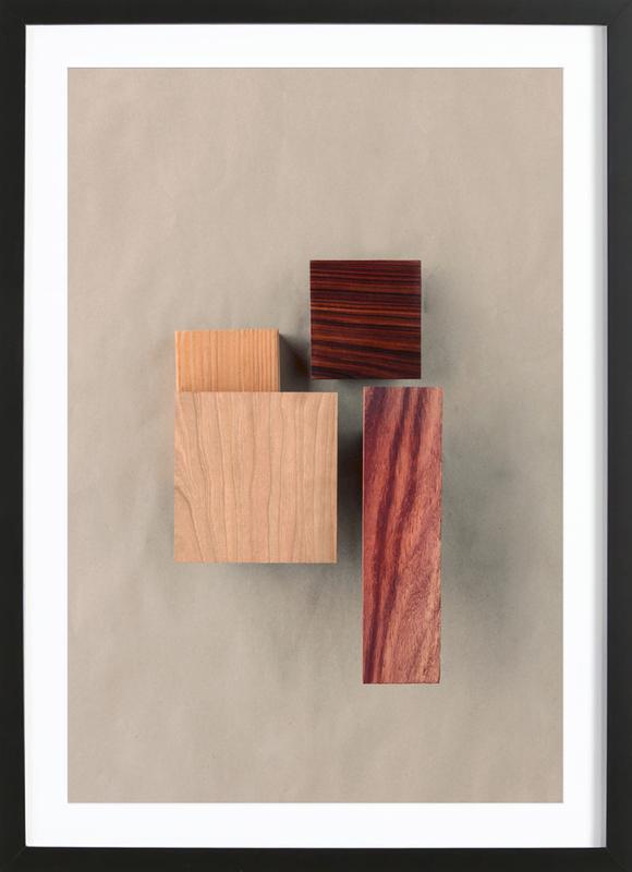 Cherry Cocobolo Padauk Wood I Framed Print