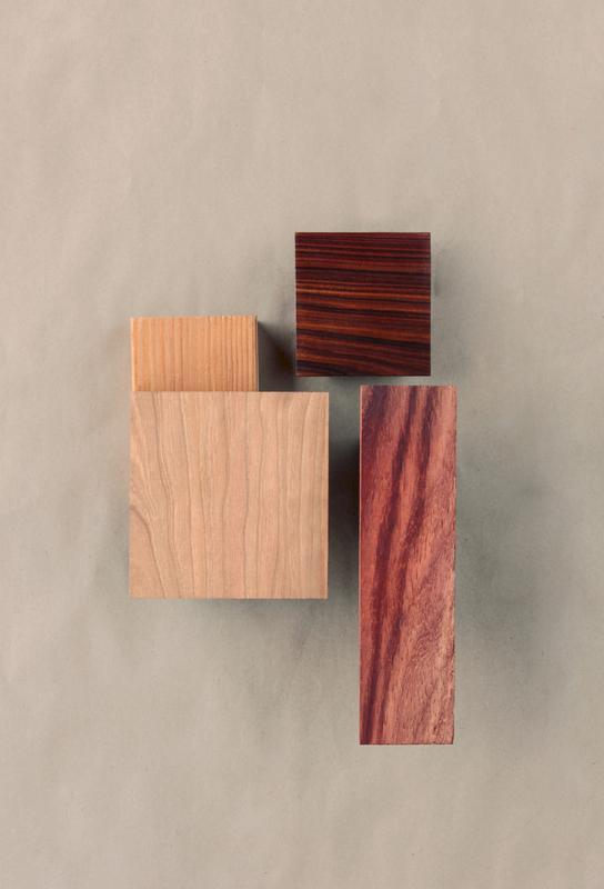 Cherry Cocobolo Padauk Wood I Aluminium Print