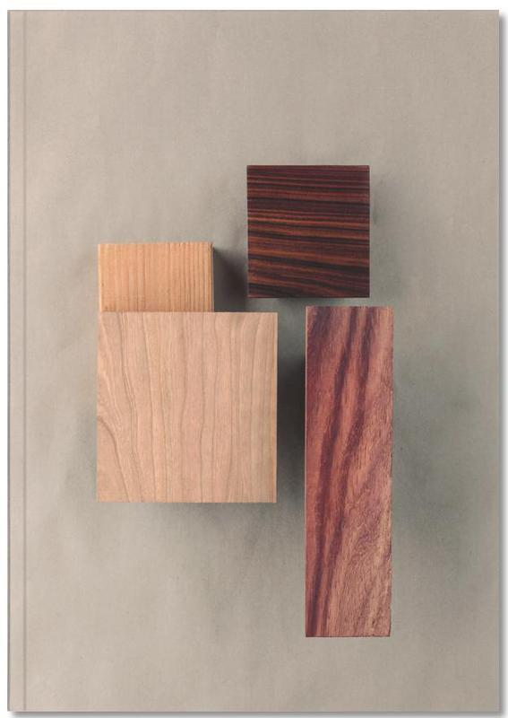 Cherry Cocobolo Padauk Wood I Notebook
