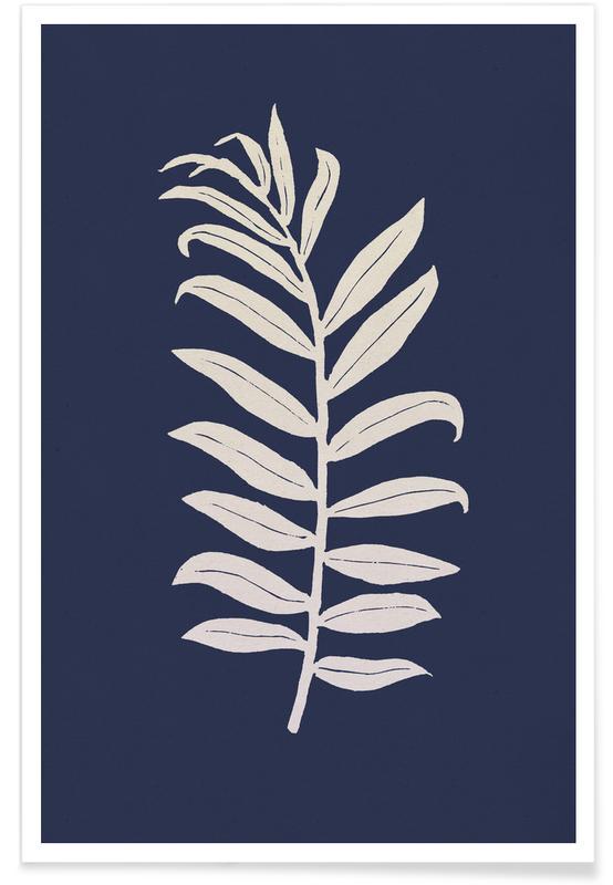 Leaves & Plants, Areca Palmata Deepnight Moon Poster