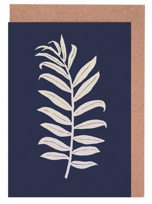 Blätter & Pflanzen, Areca Palmata Deepnight Moon -Grußkarten-Set