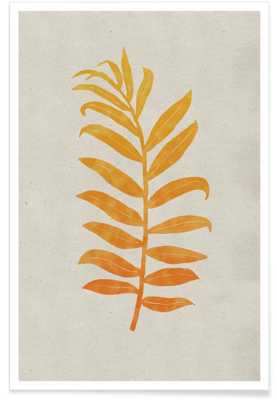 Bladeren en planten, Areca Palmata Mango poster