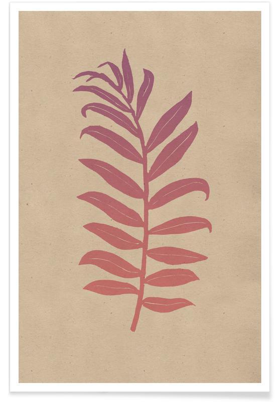 Leaves & Plants, Areca Palmata Pinktide Poster