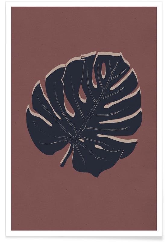 Leaves & Plants, Monstera Brickandnight Poster