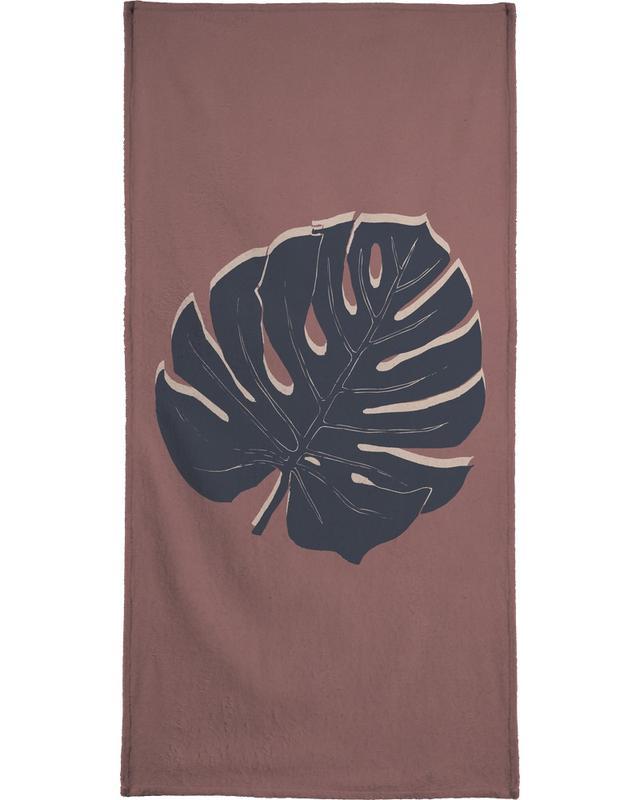 Leaves & Plants, Monstera Brickandnight Bath Towel