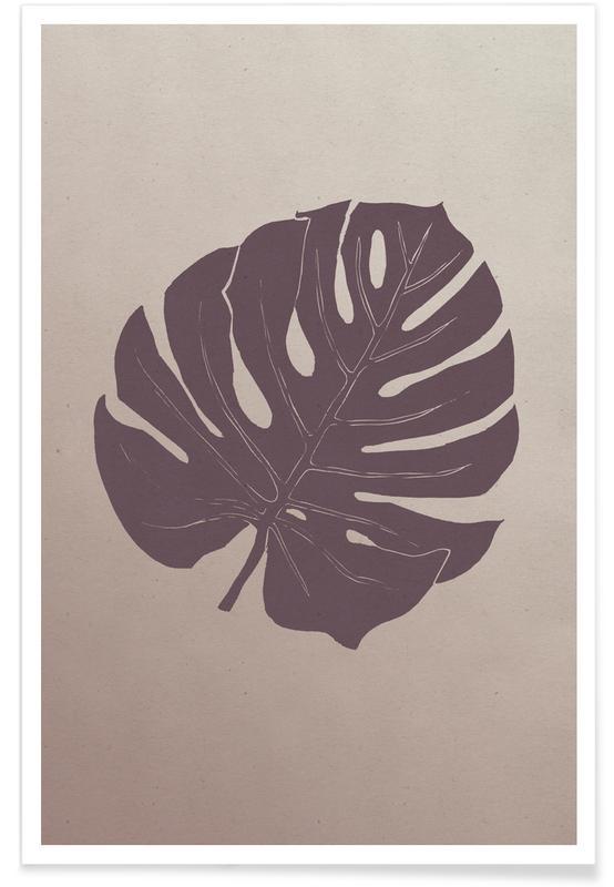 Leaves & Plants, Monstera Purplehaze Poster
