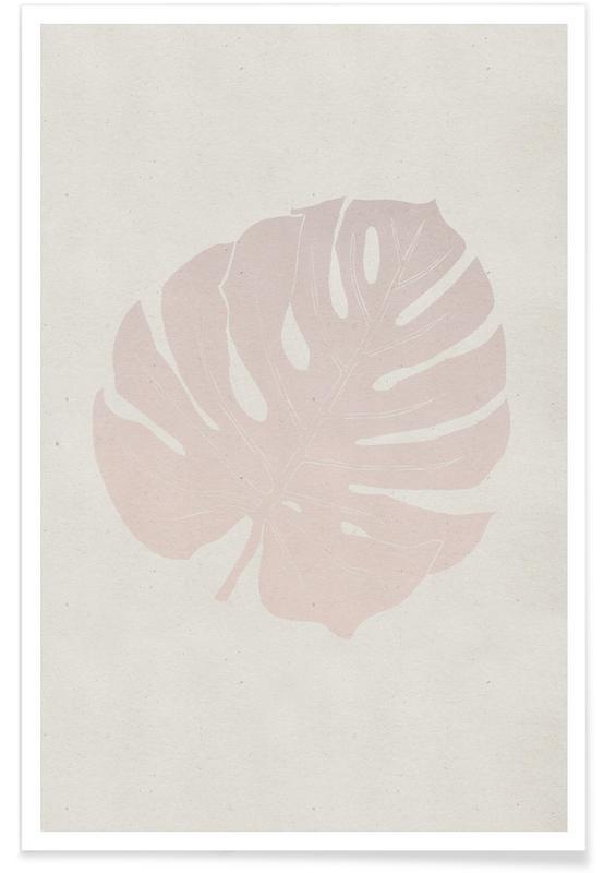 Leaves & Plants, Monstera Rose Poster