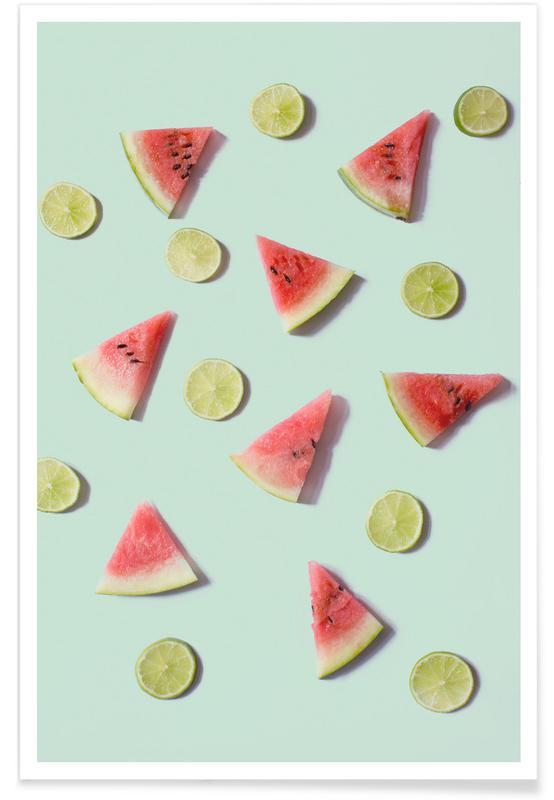 Citroner, Vandmeloner, Angurie II Plakat