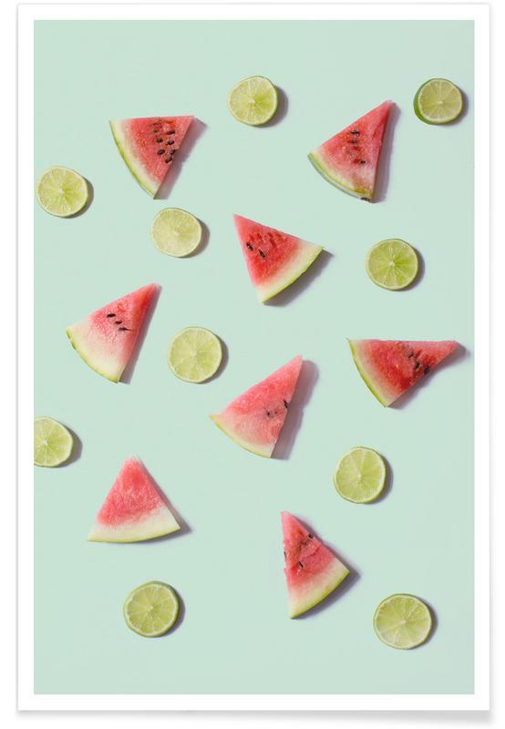 Zitronen, Wassermelonen, Angurie II -Poster